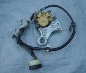02-03 Honda CBR 954RR Rear Master Cylinder, Brake Lines and Caliper