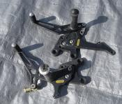 04-05 Suzuki GSXR 600 750 Aftermarket Arrow Right and Left Adjustable Rearsets