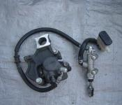 06-07 Suzuki GSXR 600 750  Rear Master Cylinder, Brake Lines and Caliper