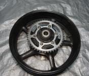 06-07 Yamaha YZF R6 Rear Wheel with Sprocket and Rotor