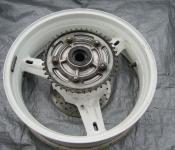01-02 Suzuki GSXR 1000 Rear Wheel with Sprocket and Rotor