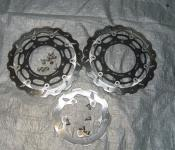 07-08 Yamaha R1 Aftermarket Galfer Front and Rear Rotors