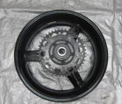 04-05 Suzuki GSXR 600 750 Rear Wheel with Sprocket and Rotor