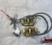 04-05 Suzuki GSXR 600 750 Front Master Cylinder, Brake Lines and Calipers