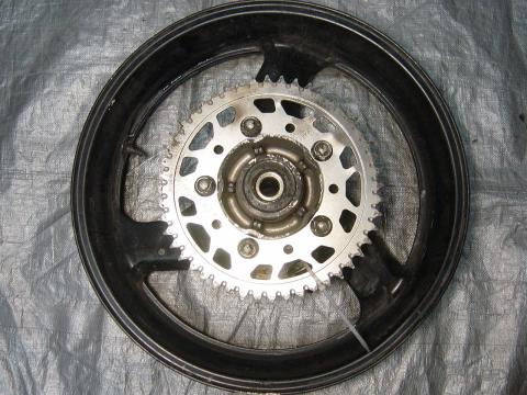 99 00 Honda CBR 600 F4 Rear Wheel With Sprocket And Rotor