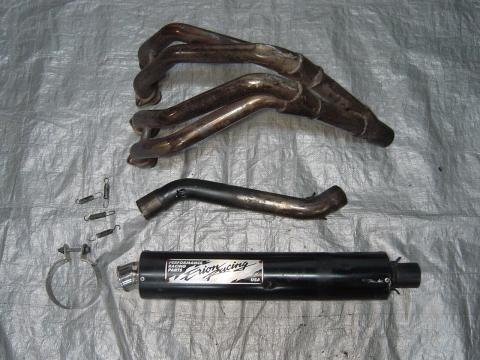 99 00 Honda CBR 600 F4 Aftermarket Full Erion Racing Exhaust